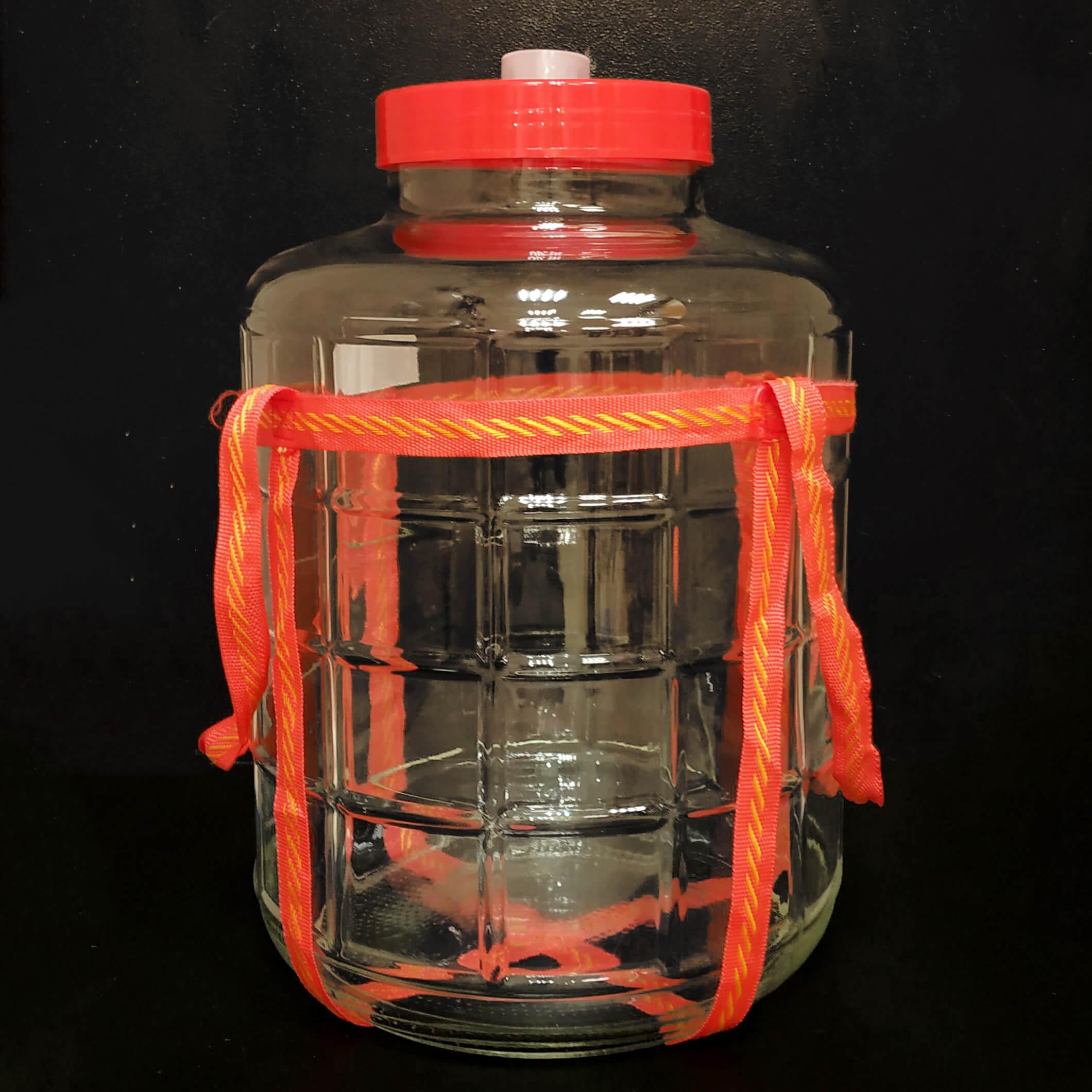 Банка с гидрозатвором, стекло (Объем: 25л)