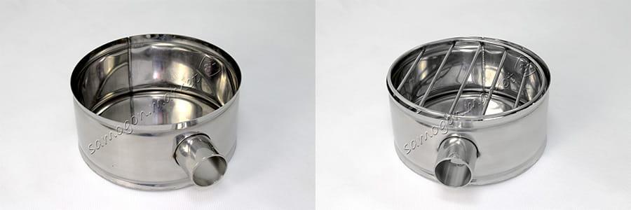 костровая чаша с решеткой