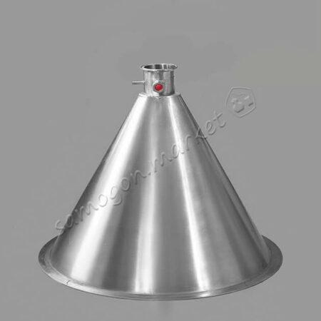 """Конусная крышка """"Аламбик"""" D300 (для куба диаметром 300мм) – кламп 2 дюйма"""