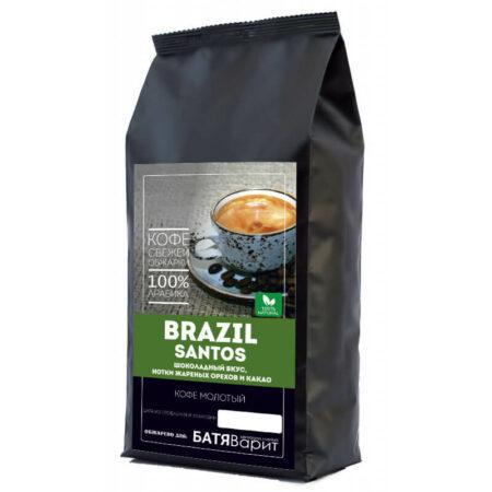 Кофе Бразилия Сантос 100% арабика