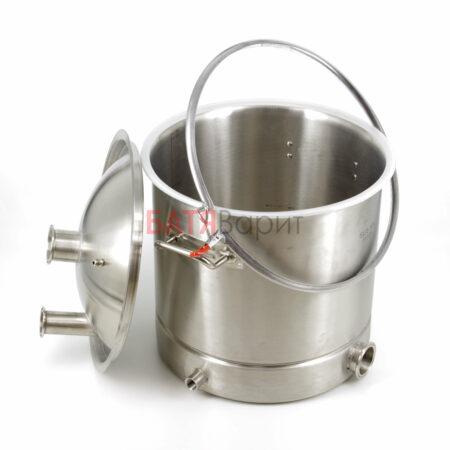 Перегонный куб SUS-304 37 литров (360*360 мм) + крышка 2 и 1,5 дюйма