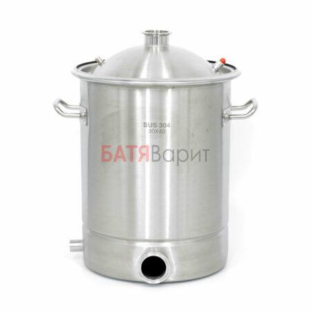 Перегонный куб SUS-304 28 литров (300*400 мм) + крышка 2 дюйма
