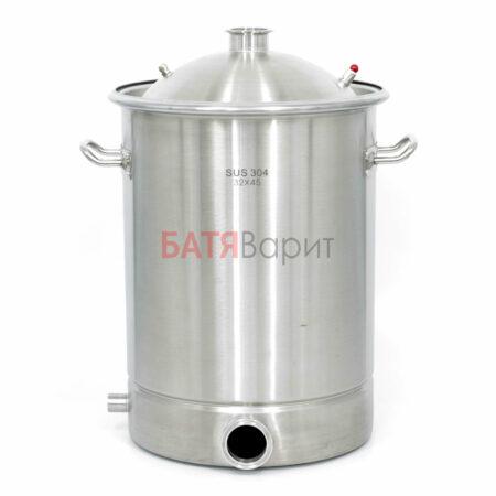 Перегонный куб SUS-304 36 литров (320*450 мм) + крышка 2 дюйма