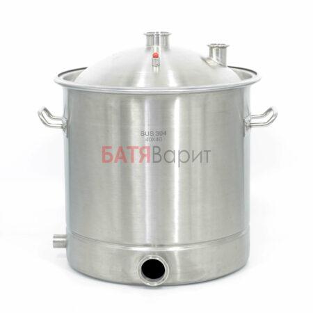 Перегонный куб SUS-304 50 литров (400*400 мм) + крышка 2 и 1,5 дюйма