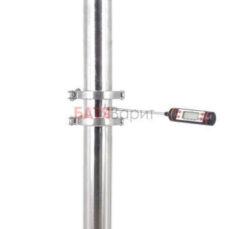 "Мини царга с гильзой под термометр КЛАМП 2,0"" (51 мм)"