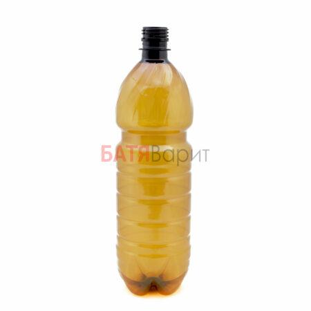 ПЭТ бутылка коричневая, 1 литр