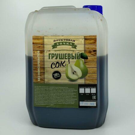 Сок концентрированный грушевый, 5 кг - Фруктовая бочка