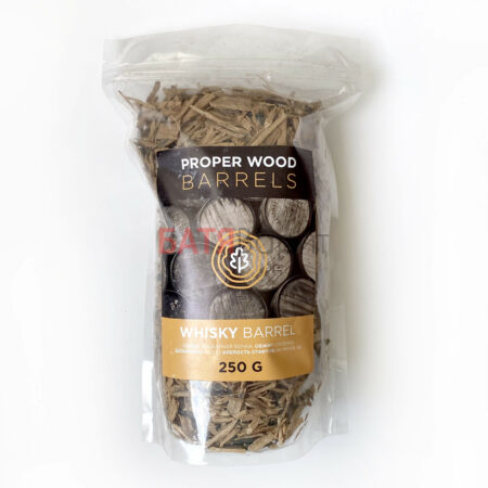 Дубовая щепа белый дуб 250 г, вискарная бочка Proper Wood