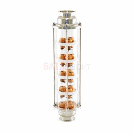 """Колпачковая колонна-флейта 4"""" (выход 3"""") медная 5 этажей"""