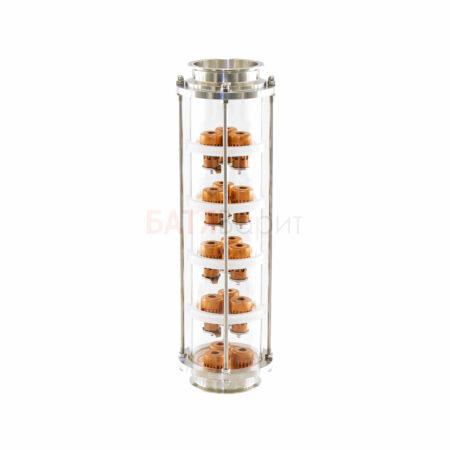 """Колпачковая колонна-флейта 4"""" (выход 4"""") медная 5 этажей"""