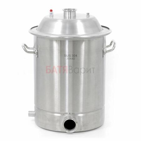 Перегонный куб SUS-304 28 литров (300*400 мм) + крышка 2 дюйма (2мм)