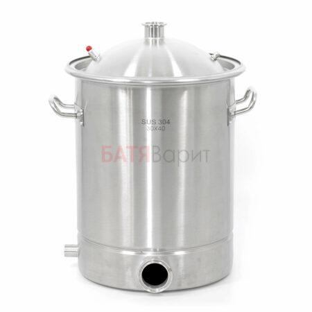 Перегонный куб SUS-304 28 литров (300*400 мм) + крышка 1,5 дюйма