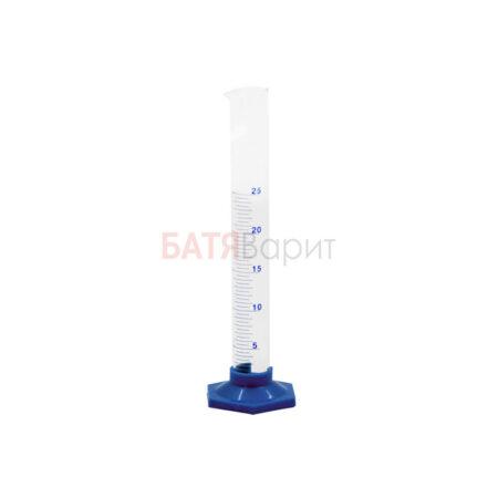 Цилиндр мерный 25мл, стекло